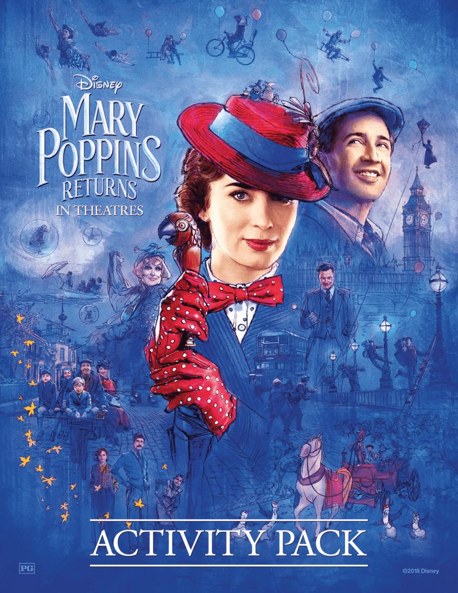 Mary Poppins Returns Family Activity Sheets