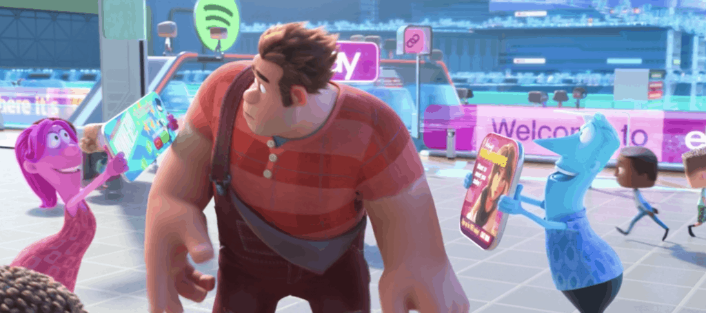 Ralph Breaks the Internet Easter Egg Image showing that it's Aunt Cass from Disney's Big Hero 6